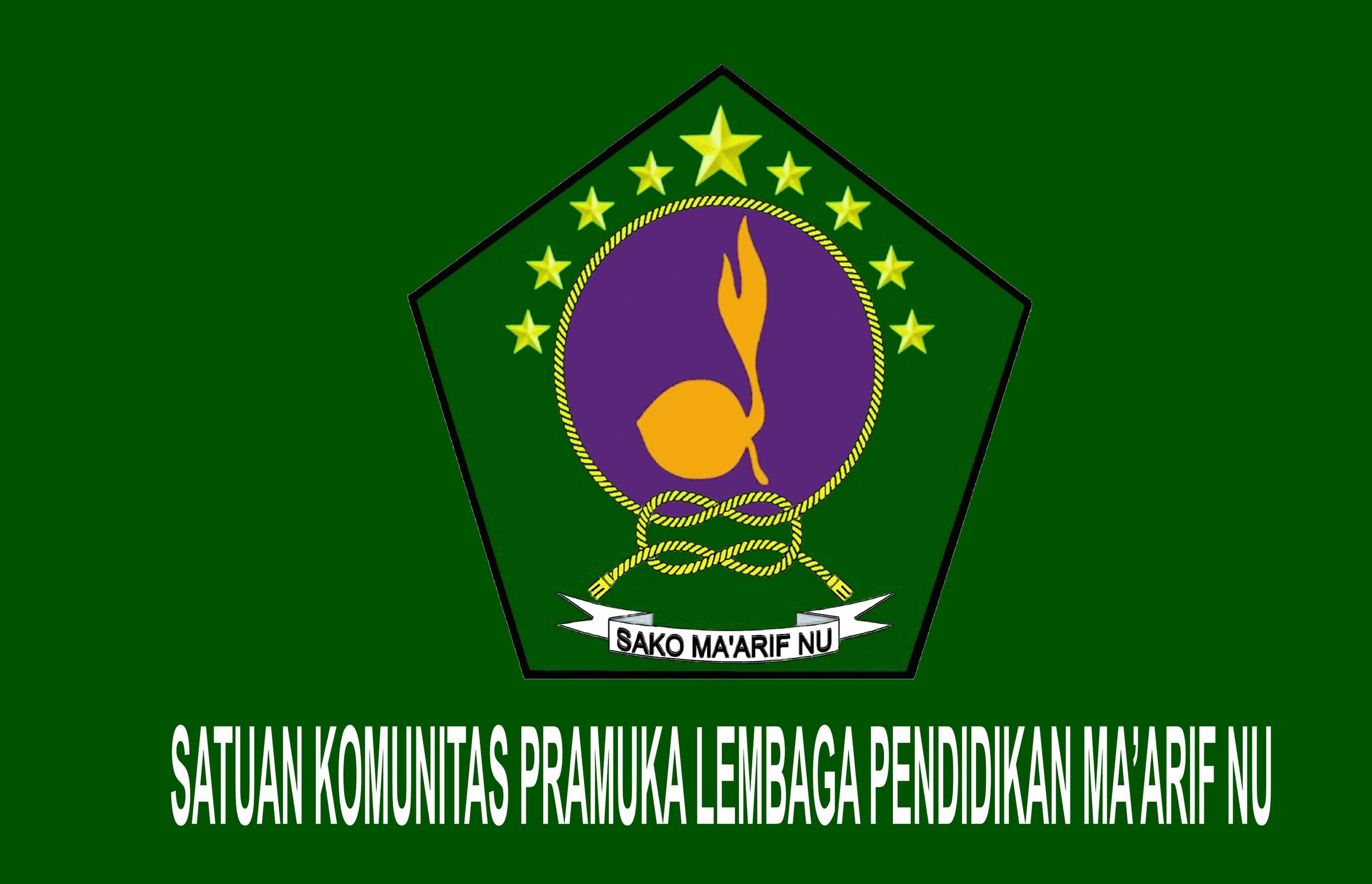 Logo Sako Maarif Nu Pendidik Agama Dan Pramuka Aneka Badge Regu Penggalang Bendera
